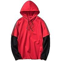 Selou Herren Herbst und Winter Nähte lange Ärmel Lässiges Sweatshirt Loser Hoodie Mode Pullover Neueste Jacke Einfarbiges einfaches Stilhemd Coole Straßentanzspitze Dünnes T-Shirt