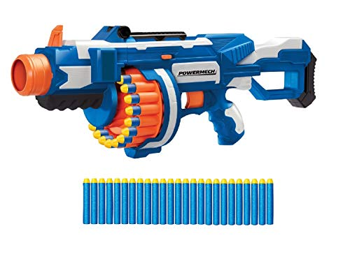 BuzzBee Air Warriors Powermech Flywheel Dart-Blaster 25 Schuß Trommel