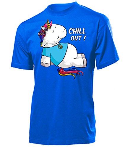 EINHORN HIPPIE - CHILL OUT 5969 Herren T-Shirt (H-B) Gr. (Kostüm Bilder Kondom)