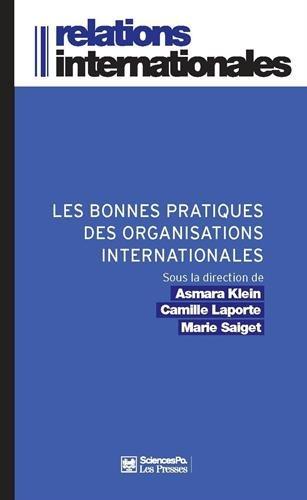Les bonnes pratiques des organisations internationales
