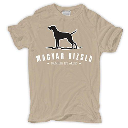 Spaß kostet Männer und Herren T-Shirt Magyar Vizsla - Familie ist Alles Größe S - 8XL Sand