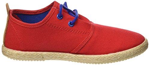 Cheiw Unisex-Kinder 47108 Sneaker Pique rojo / Napa pu camel