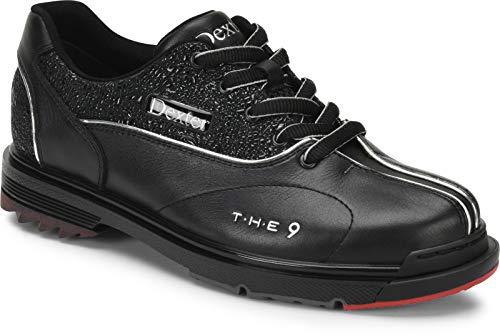 Dexter The 9 - Schwarz/Juwelenbesetzt - High Performance Bowling Schuhe - Für Damen mit Wechselsohle - für Rechts- und Linkshänder Größe 37,5