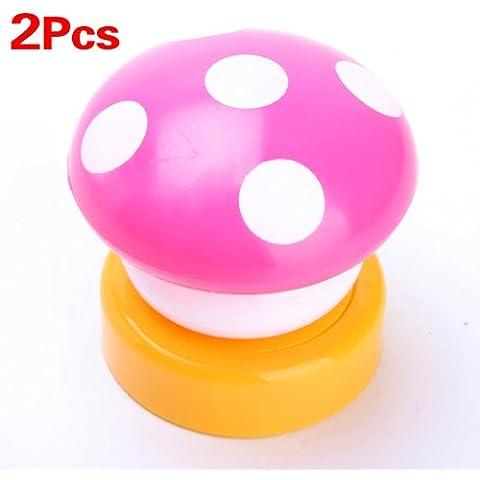 SODIAL (R) 2X Colourful fungo push / tocco LED per bambini Camera da letto del regalo della lampada della luce di notte Desk