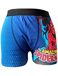 MENS CHARACTER NOVELTY SPIDERMAN AVENGERS BATMAN SUPERMAN STAR WARS BOXER SHORT TRUNK S-XL