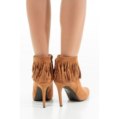 Princesse boutique - Bottines camel à franges Camel