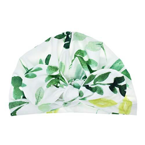 YOUQING Baby Floral Bedruckte Mützen für Neugeborene Bow Knotted Head Wraps für Kleinkind Fotografie Zubehör Turban Hairband (Die Katze In Den Hut-partei-zubehör)