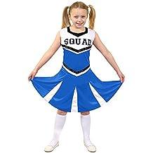 I Love Fancy Dress. ilfd7095s infantil Disfraz de animadora con impresión y falda de Squad (Pequeño)