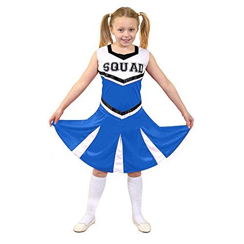 I Love Fancy Dress. ilfd7095l infantil Disfraz de animadora con Squad ImpresióN y falda (Tamaño Grande)