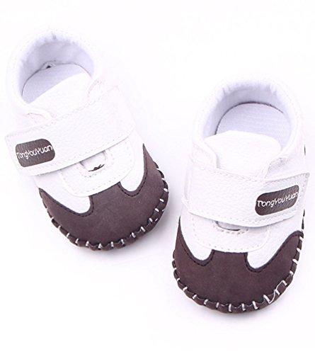 CHENGYANG Sneakers avec Magic Tape - Chaussures Décontracté Mixte Enfant Café