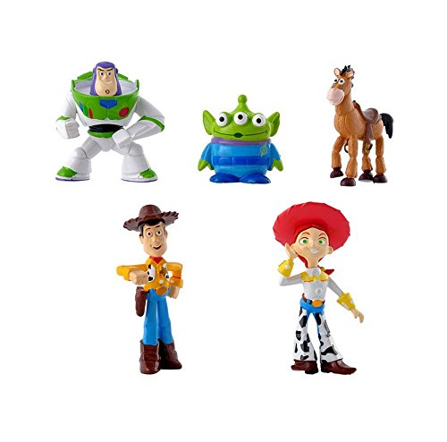 DS FIGUREN SET TOY STORY *5 STÜCK* ca. 5-7 cm Buzz Lightyear Woody Green Man Action (De Story Toy Set)
