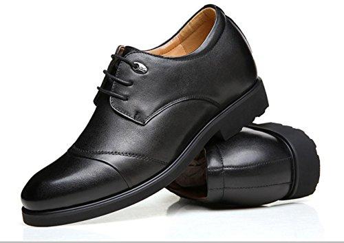 WZG Erh枚hte sich innerhalb der Freizeit-Anz眉ge der neuen M盲nner Leder M盲nner Schuhe schn眉ren Schuhe Schuhe Offizier Black