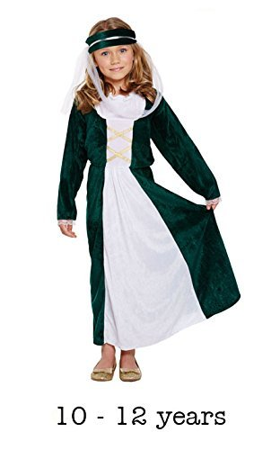 Henbrandt Fancy Kleid Kind Mittelalter Maiden Large 10-12 Yrs