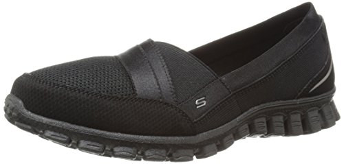 Skechers Ez Flex 2 Quipster, Baskets Basses Femme Black