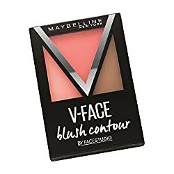 Maybelline V-Face Blush Contour Peach with Ayur Product in Combo