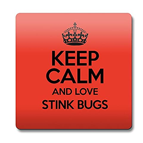Rouge Keep Calm and Love Stink Bugs aimant couleur 2070