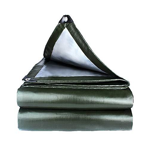 ZXXY wasserdichte Plane, Army Green Tarp Sheet für Backyard Deck, Balkon, Veranda, Pergola und Outdoor Camping Zeltabdeckung, 180 g/Quadrat,3x4m