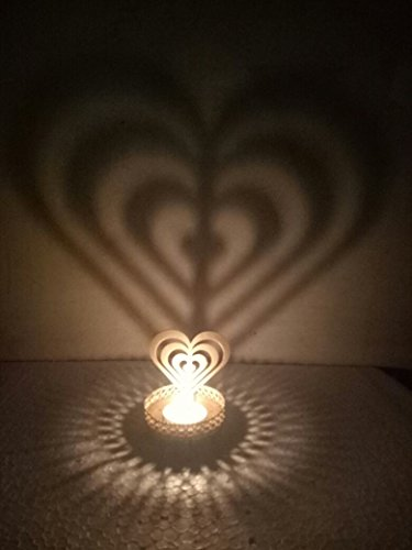 Love heart Shadow Tea Light Decoration Table Lamp velntine Gift  available at amazon for Rs.160