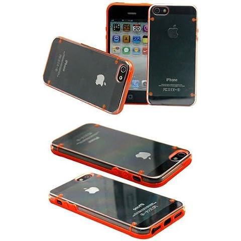 Resplandor en el caso del capítulo TPU oscuro noctilucentes parachoques para el iPhone 5 5S.