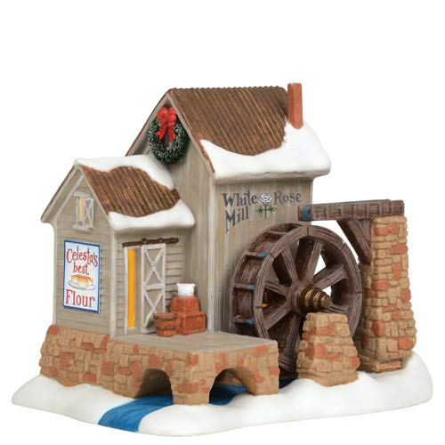 Department 56 New England Village White Rose Mill Building Figurine 6003099 New (Collectibles White Rose)