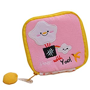 Oyedens Women Lovely Sanitary Pad Organizer Holder Napkin Towel Convenience Mini Coin Bags