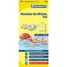 Carte DPARTEMENTS Bouches-du-Rhne, Var de Collectif Michelin ( 12 mars 2008 )