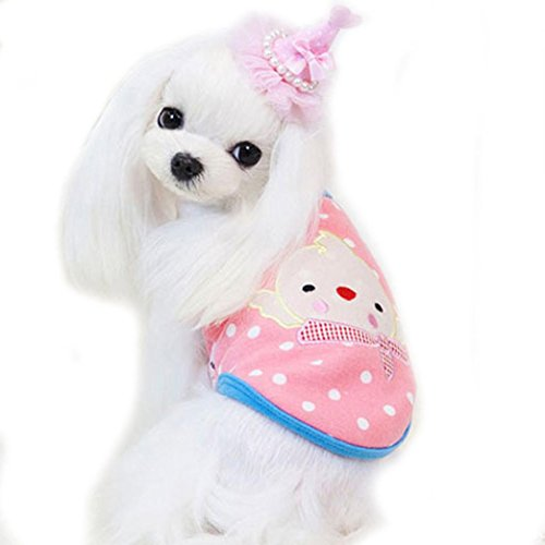 Nette kleine Haustier Hundeweste, Hmeng Karikatur Küken Muster Welpen Mantel für Winter Warm Fleece Haustier Clouthes (L, (Sache Muster 1 Kostüm)