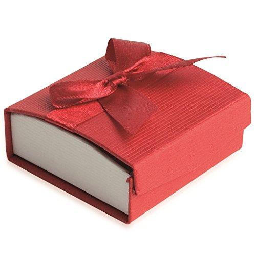 Cofanetto orecchini, colore: rosso, in confezione regalo,