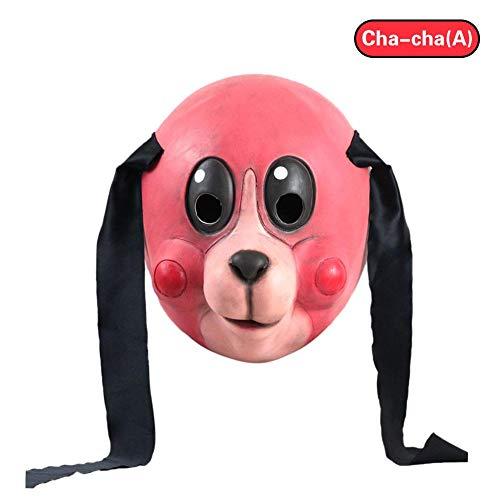 n Party Cosplay Kostüm Dekoration Cha Cha Maske Halloween Cosplay Helm für Herren und Damen Masken ()