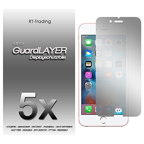 5x Apple iPhone 6S Plus (5,5 Zoll) - Spiegelfolie Display Schutzfolie Folie Schutz Mirror Screen Protector Displayfolie - RT-Trading