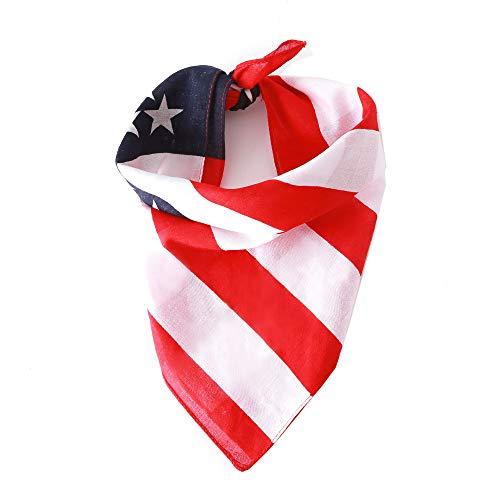 Egurs Amerikanische Flagge Bandana Usa Flag Dog Bandana Hundehalsband Bandana Dogs Triangle Lätzchen für Large Medium oder Small Cats Dogs Scarf 1#