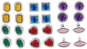 Shatchi JEWEL-RING-18PCS-11055 18 piezas de juguetes para niños princesa niña pequeña joyas Play and Dress Up Anillos Party Bag Fillers Pirate, Multi