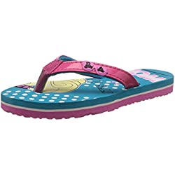 Barbie Girl's Sea Green and Pink Flip-Flops and House Slippers - 5 kids UK/India (22 EU)