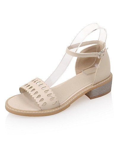 UWSZZ IL Sandali eleganti comfort Scarpe Donna-Sandali-Casual-Aperta-Basso-Finta pelle-Blu / Rosa / Bianco / Beige beige