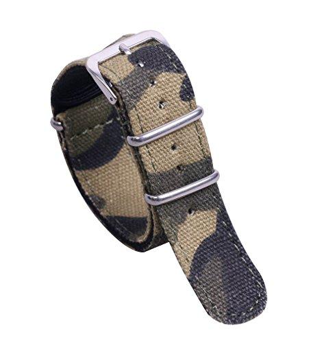 20 mm camouflage haut de gamme supérieure remplacement délicat bracelet bracelet en nylon de style NATO pour les hommes