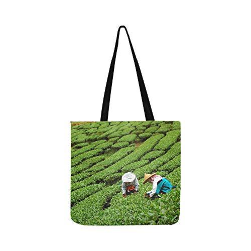 Mann Aus Den Bergen, Tee (Frauen Pick In Teeblätter Leinwand Tote Handtasche Schultertasche Crossbody Taschen Geldbörsen Für Männer Und Frauen Einkaufstasche)