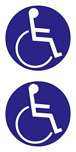 Aufkleber Behinderten-Symbol 2er-Set blau ~~~~~ schneller Versand innerhalb 24 Stunden ~~~~~