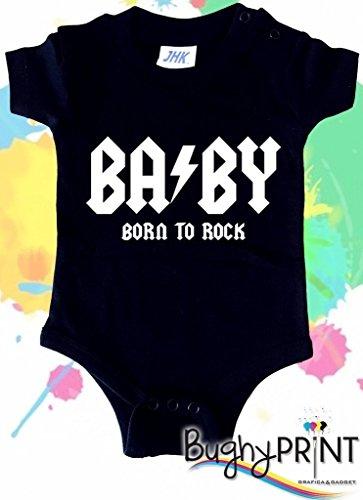 BODY tutina bimbo neonato AC DC 6 mesi