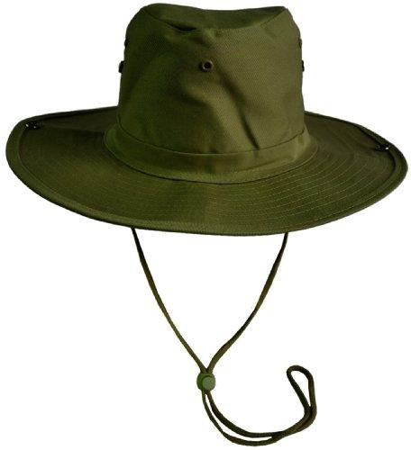 Original Australian Outdoor Hut Buschhut in vielen Farben und Grössen Größe 59 Farbe Oliv des Herstellers normani®