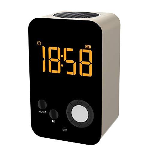 Mfun-Jakcom Tech Creative Nacht LED Wecker-Lautsprecher Spiegel Drahtlose Bluetooth-Lautsprecher, Für iPhone, Ipod, Ipad, Samsung, LG Und Andere,Gold