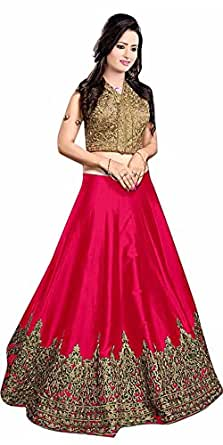 Ara Cruz Women's Cotton Silk Lehenga Choli (Red Kayamat Lehenga_Red _Free Size)