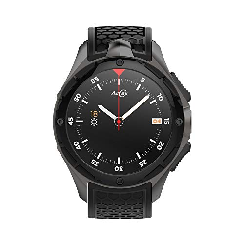 Smartwatch Allcall W2(2018Upgrated), IP68impermeabile 3G Phone 2GB RAM 16GB ROM 2.0MP fotocamera GPS sport fitness tracker 460mAh batteria WiFi supporto Nero