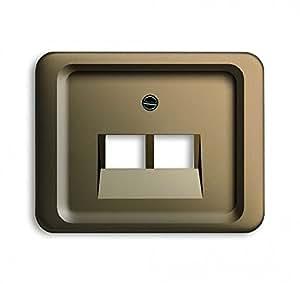 busch jaeger abdeckung f r uae anschlussdosen 2 fach 1803 02 21 baumarkt. Black Bedroom Furniture Sets. Home Design Ideas