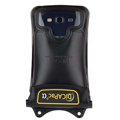 DiCaPac (Digital Camera Pack) WP-C1 Waterproof Case for samsung HTC Blackberry and other Large Smartphones - (Black)