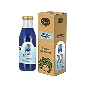 Gulabs Pudina Lemon Syrup Mint Syrup, 500 ml