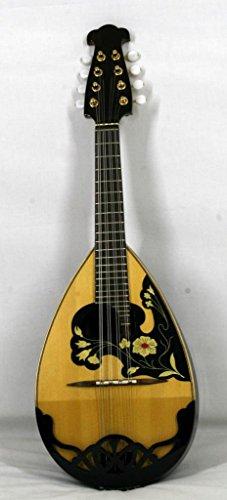 Musikalia luthery Mandoline Modell 'calace in Palisander, reich Floral Einlage und hacksaw-worked Gard Teller