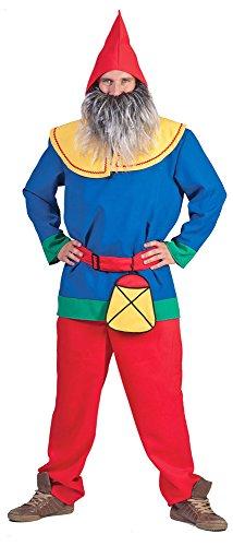 für Herren - Tolles buntes Zwergen Wichtel Elfen Kostüm für Familien und Gruppen zu Karneval oder Mottoparty (Familie Gruppe Kostüme)