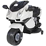 Toy House Rechargeable Battery Operated Mini Lamborghini Ride-on Superbike for Boys and Girls (White, 2-4 Years)