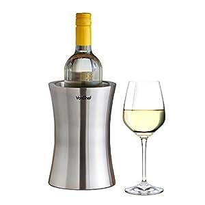 VonShef Wine Bottle Cooler Stainless Steel Double Walled Wine Bottle Holder