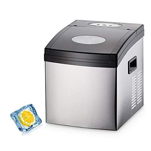 Eiswuerfelmaschine,Morpilot LCD Eiswuerfelbereiter| Ice Maker,11-15 Kg/24h,9 Eiswuerfel In15 Minuten,120W,1.7L Wassertank,LCD Anzeige -
